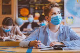 masked students